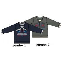 Nocturne baby boys shirt combo 2 grey melange (4 pcs)