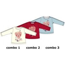 Design Matters baby girls shirt combo 3 chambray blue (4 pcs)
