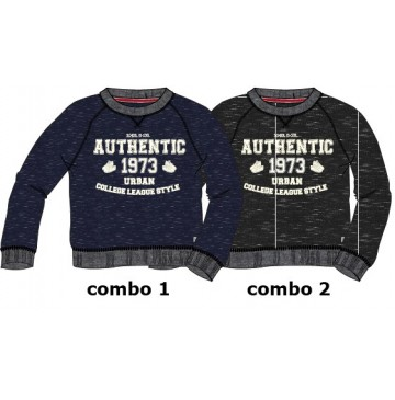Essentials small boys sweatshirt combo 2 black (6 pcs)