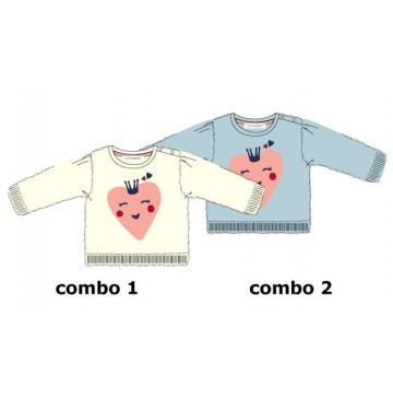 Design Matters baby girls pullover combo 2 chambray blue (4 pcs)
