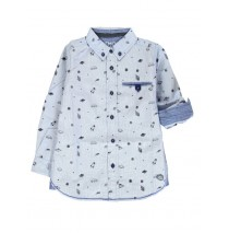 Earthed small boys blouse combo 1 blue (6 pcs)