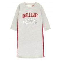 Essentials teen girls dress grey melange (5 pcs)