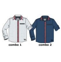 135454 Nocturne teen boys blouse combo 2 true navy (6 pcs)