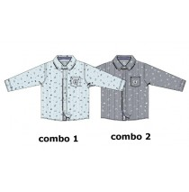 Infusion blouse baby boys blouse combo 2 total eclipse (4 pcs)