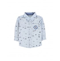 Infusion blouse baby boys blouse combo 1 blue (4 pcs)