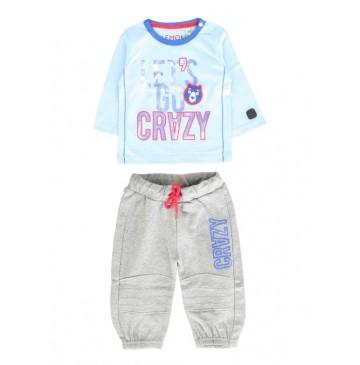 Infusion baby boys set combo 1 chambray blue (4 pcs)