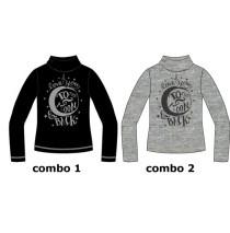 135525 Nocturne small girls shirt combo 2 grey melange (6 pcs)