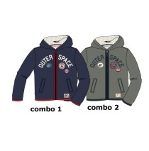 Infusion baby boys cardigan fleece sweater combo 2 smoked pearl (4 pcs)