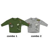 Essentials teen girls shirt  combo 2 grey melange (6 pcs)