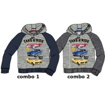 135585 Infusion small boys sweatshirt combo 2 dk grey melange (6 pcs)