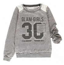 135590 Essentials teen girls sweatshirt  combo 1 asphalt (6 pcs)