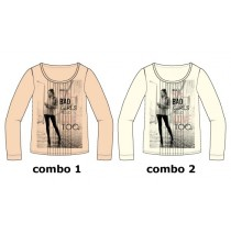 Earthed teen girls shirt  combo 2 marhsmallow (6 pcs)