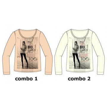 Earthed teen girls shirt  combo 2 marhsmallow (6 pcs)