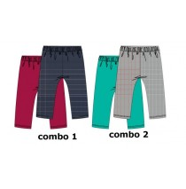 Design Matters baby girls two-pack legging combo 2 enamel blue (4 pcs)
