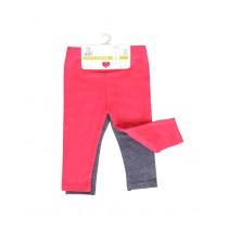 Design Matters baby girls two-pack legging combo 1 red bud (4 pcs)