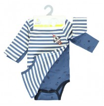 135613 baby boys romper two-pack combo 1 true navy (6 pcs)