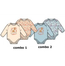 baby girls romper two-pack combo 2 chambray blue (6 pcs)