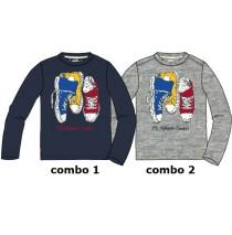Infusion small boys shirt combo 2 grey melange (6 pcs)