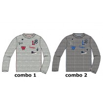 Infusion small boys shirt combo 2 grey melange (6 pcs)