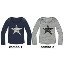 Earthed teen girls shirt combo 2 grey melange (6 pcs)