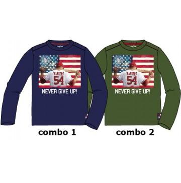 135725 Infusion small boys shirt combo 2 kaki  (6 pcs)