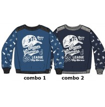 Design Matters small boys sweatshirt combo 2 total eclipse (6 pcs)