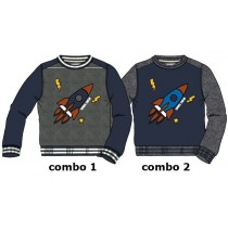 Earthed small boys sweatshirt combo 2 dk grey melange (6 pcs)