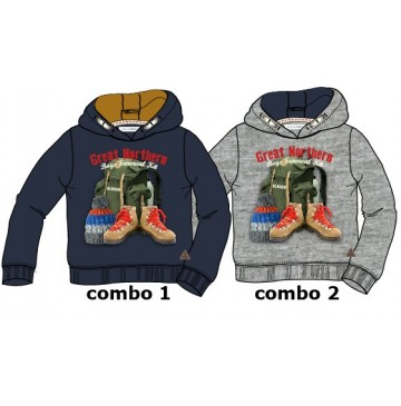 Earthed small boys sweatshirt combo 2 grey melange (6 pcs)
