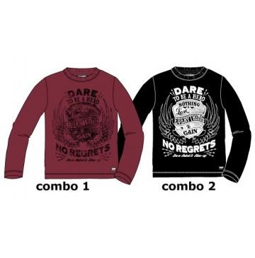 Nocturne teen boys shirt combo 2 black (6 pcs)