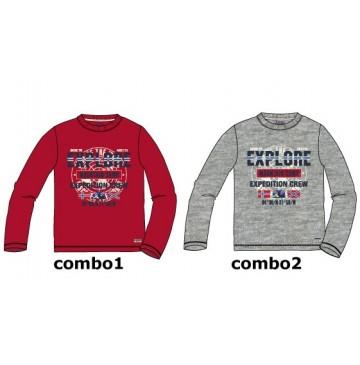 135762 Earthed teen boys shirt combo 2 grey melange (6 pcs)