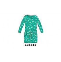 135815 Infusion small girls dress enamel blue (5 pcs)