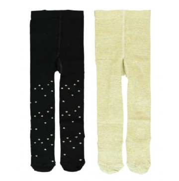 Infusion baby girls two-pack tight pale gold + silver (6 pcs)
