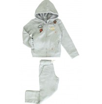 Earthed small girls jogging grey melange (5 pcs)