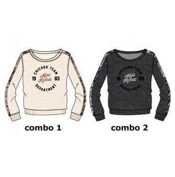 Earthed teen girls sweatshirt  combo 2 antra melange (6 pcs)