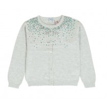 136329 Mermaids small girls cardigan light grey melange (5 pcs)