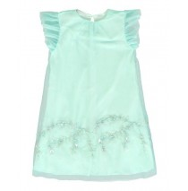 136332 Mermaids small girls dress blue tint (5 pcs)