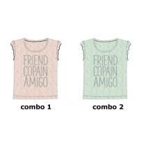 136360 Mermaids small girls shirt combo 2 blue tint (6 pcs)