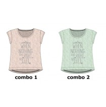 136363 Kinship Teen girls shirt combo 2 blue tint (6 pcs)