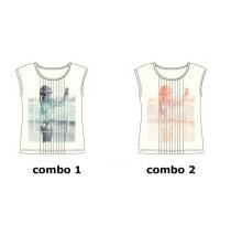 Kinship Teen girls shirt combo 2 living coral (6 pcs)