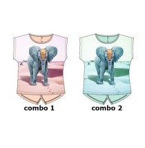Kinship baby girls shirt combo 2 blue tint (4 pcs)