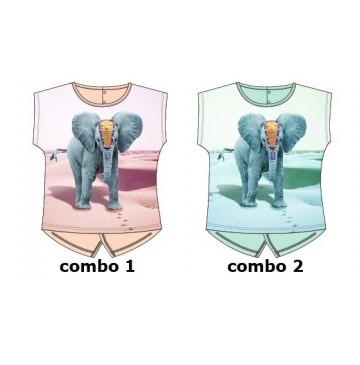 Kinship baby girls shirt combo 2 blue tint (4 pcs)