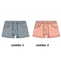 136716 Kinship Teen girls short combo 2 living coral (6 pcs)