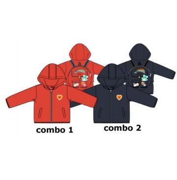 136735 Youth tonic baby girls jacket combo 2 blue nights (4 pcs)