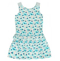 136778 Mermaids small girls dress combo 1 blue tint (6 pcs)