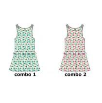136778 Mermaids small girls dress combo 2 pearl (6 pcs)