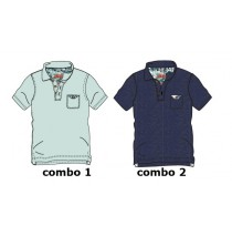 136896 Psychotropical teen boys polo combo 2 blue nights (6 pcs)