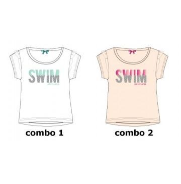 Theme small girls shirt  combo 2 pearl (6 pcs)