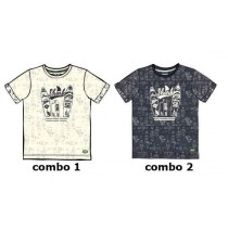 136903 Psychotropical Small boys shirt combo 2 blue nights (6 pcs)