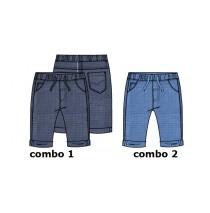 Kinship baby boys pant combo 2 sliver lake blue (4 pcs)
