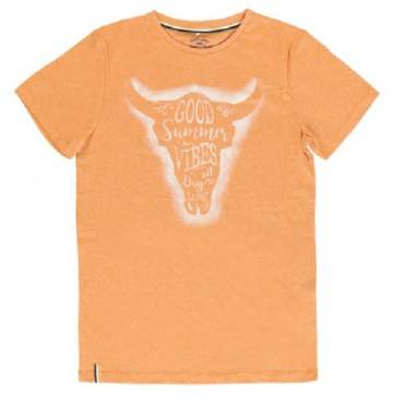 PsychotropicalTeen boys shirt combo 1 orange melange (6 pcs)